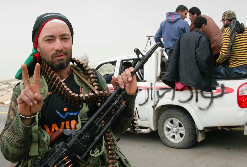 Libijska zbrojna milicja, źródło: Flickr, fot. Nasser Nouri