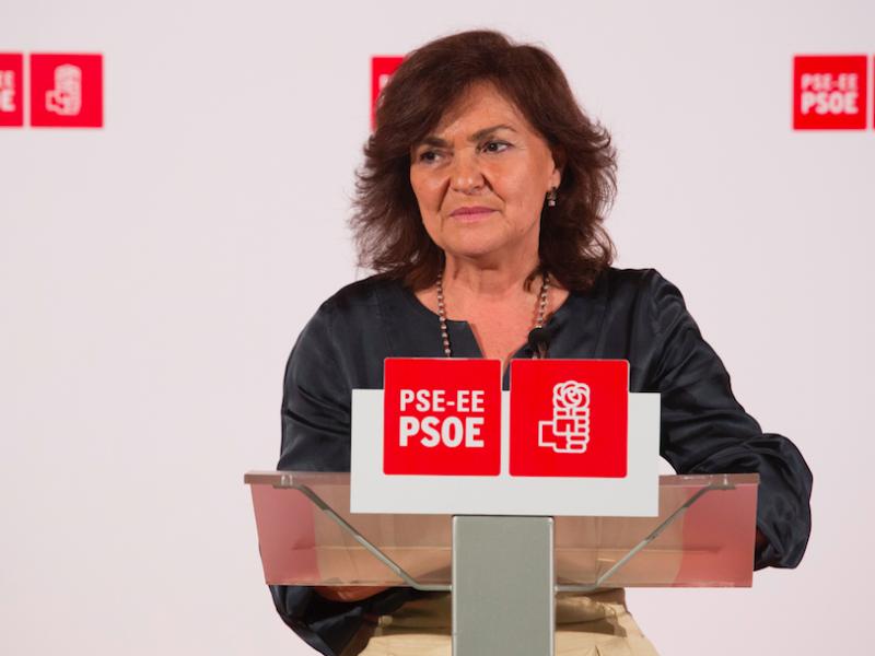 Wicepremier Hiszpanii Carmen Calvo, źródło: Flickr/socialistasvascos
