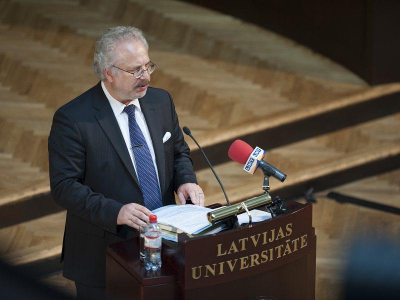 Prezydent Łotwy Egils Levits, źródło: Flickr/Saeima, fot. Reinis Inkēns, Saeimas Kanceleja