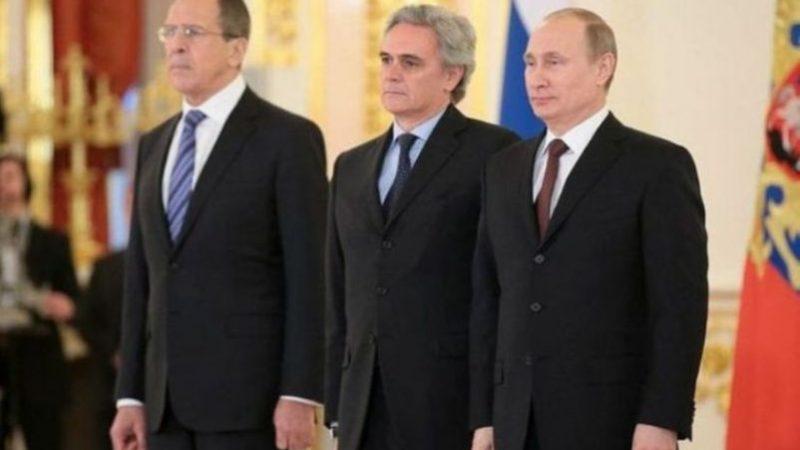 Cesare Maria Ragaglini, Władimir Putin i Sergiej Ławrow, fot. Kremlin.ru [Wikipedia cc 4.0]