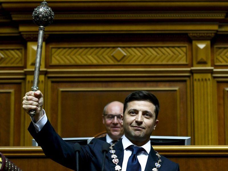 Wołodymyr Zełenski zaprzysiężony na prezydenta Ukrainy, źródło Mikołi Łazarenka, president.gov.ua