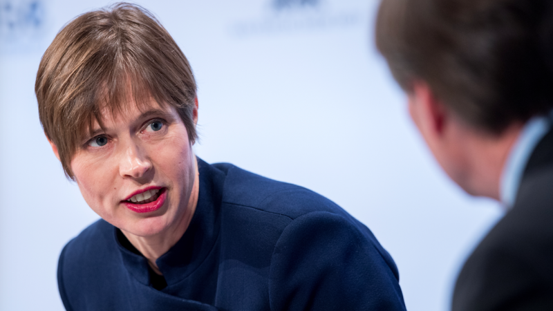 Prezydent Estonii Kersti Kaljulaid, źródło: Munich Security Conference/fot. Mueller/MSC (CC BY 3.0 Germany - https://www.securityconference.de/en/legal-advice/)