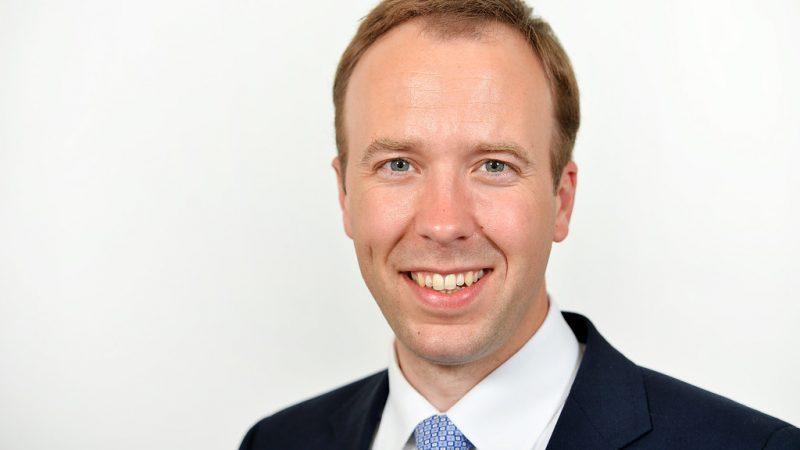 Minister zdrowia Wielkiej Brytanii Matt Hancock, źródło: Flickr/Number 10 (CC BY-NC 2.0)