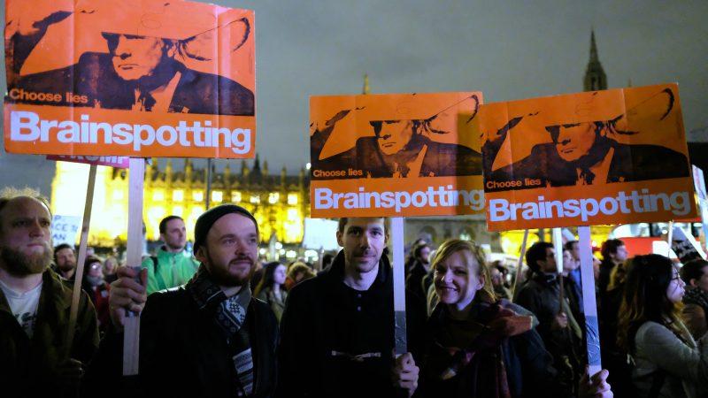 Protest przeciw wizycie Donalda Trumpa w Wielkiej Brytanii, źródło: Flickr, fot. Alisdare Hickson (CC BY-SA 2.0)