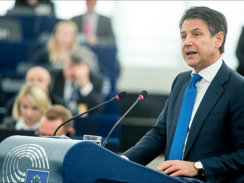 Premier Włoch Giuseppe Conte, CC-BY-4.0: © European Union 2019 – Source: EP