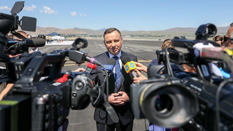 Briefing prezydenta Andrzeja Dudy w Reno (Nevada), źródło Jakub Szymczuk KPRP
