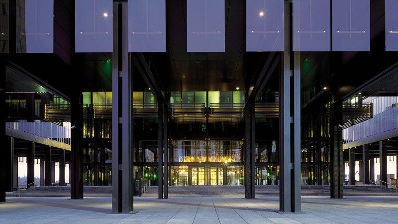 Główne wejście do TSUE, źródło G.Fessy CJUE