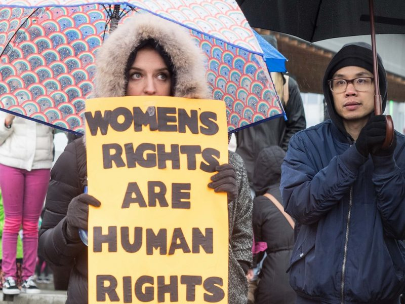 Protest kobiet, źródło: Flickr, fot. Sally T. Buck