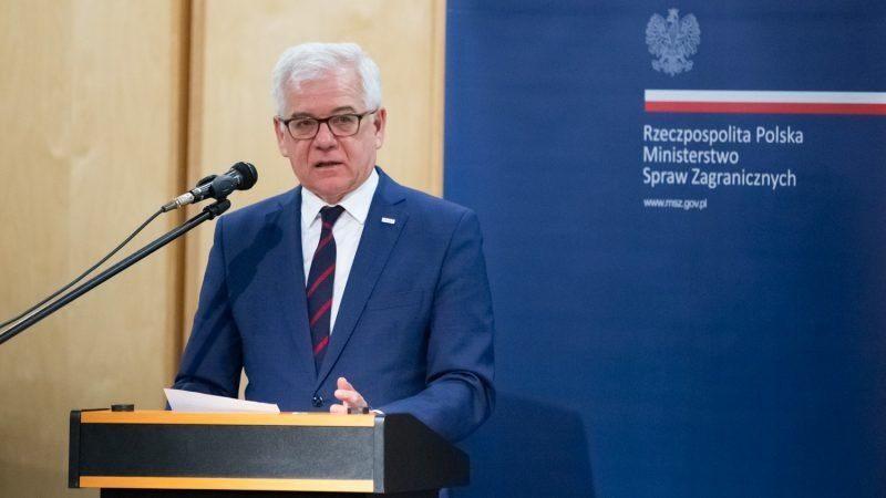 zef polskiej dyplomacji Jacek Czaputowicz, źródło Tymon Markowski MSZ