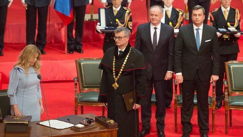 Zaprzysiężenie nowej prezydent Słowacji Zuzany Čaputovej, źródło twitter Zuzana Čaputová
