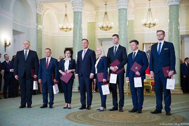 Zaprzysiężenie nowych ministrów w rządzie Mateusza Morawieckiego, źródło Krystian Maj KPRM