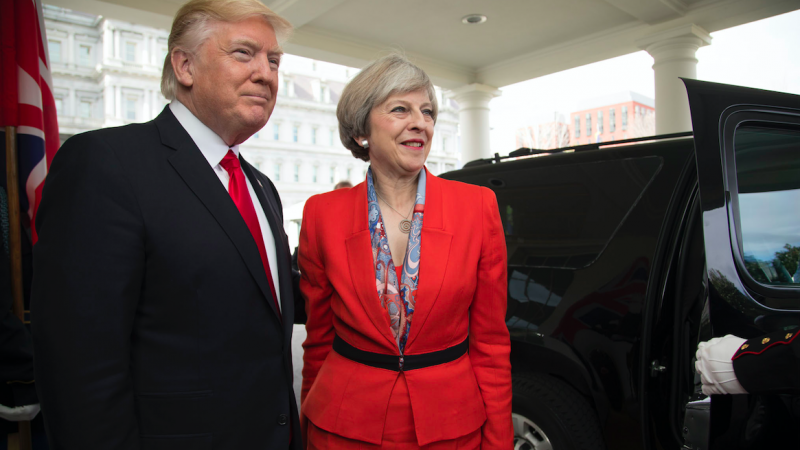 Donald Trump i Theresa May, źródło: Flickr/The White House, fot. Shealah Craighead (Public Domain Mark 1.0)