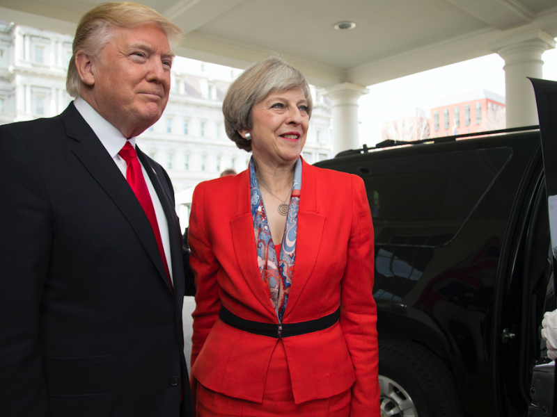 Donald Trump i Theresa May, źródło: Flickr/The White House, fot. Shealah Craighead (Public Domain Mark 1.0)