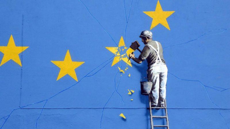 Brexit, Banksy, źródło: Flickr, fot. Dunk