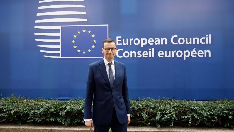 Premier Mateusz Morawiecki na lipcowym szczycie UE, źródło Krystian Maj KPRM