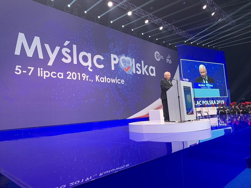 Prezes PiS Jarosław Kaczyński na konwencji swojej partii w Katowicach, źródło twitter pisorgpl