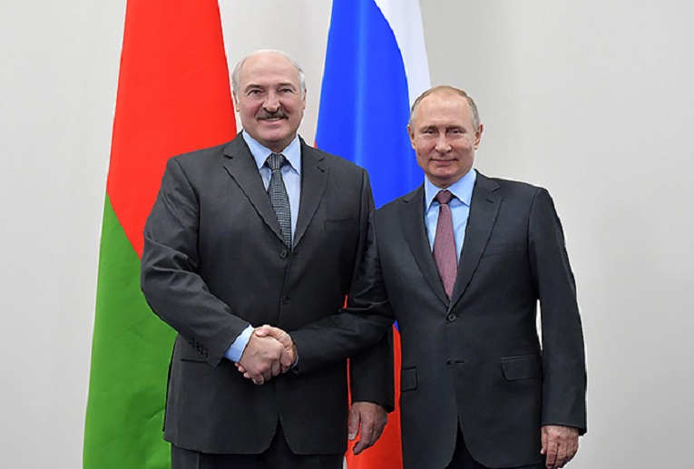 Prezydenci Białorusi i Rosji Alaksandr Łukaszenka i Władimir Putin, źródło president.gov.by