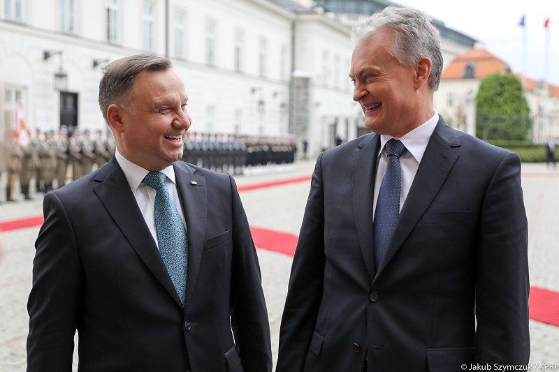 Prezydenci Polski i Litwy Andrzej Duda i Gitanas Nausėda, źródło Jakub Szymczuk KPRP