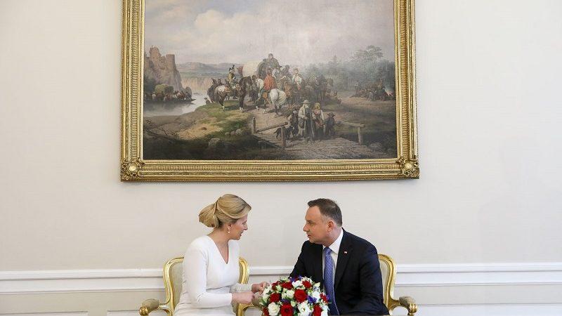 Prezydenci Słowacji i Polski Zuzana Čaputova i Andrzej Duda, źródło Jakub Szymczuk KPRP