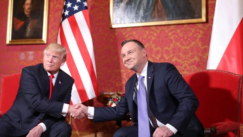 Prezydenci USA i Polski Donald Trump i Andrzej Duda w Warszawie, źródło Krzysztof Sitkowski KPRP