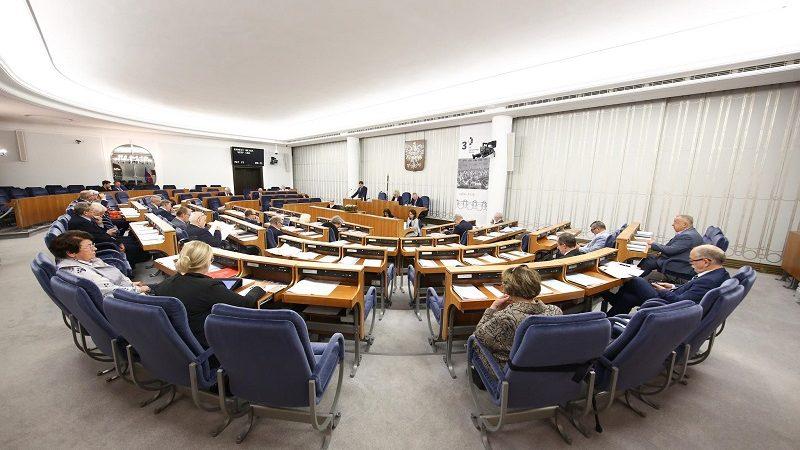 Senat sala posiedzeń, źródło twitter. PolskiSenat