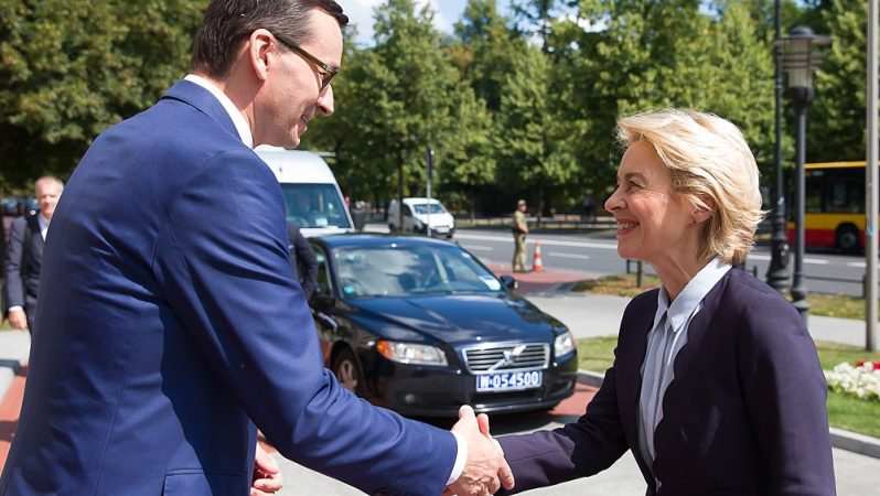 Ursula von der Leyen i Mateusz Morawiecki w Warszawie, fot. Krystian Maj [KPRM]