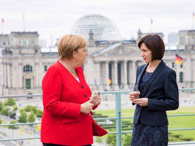 Maia Sandu i Angela Merkel, źródło: Facebook, maia.sandu
