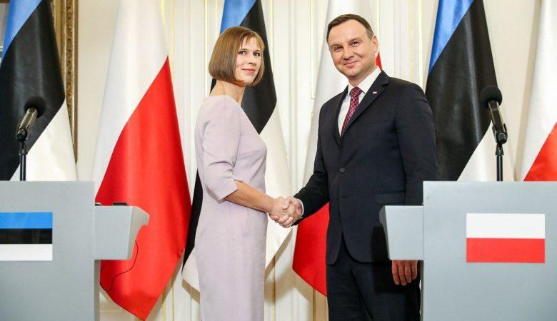 Prezydent Estonii z wizytą w Polsce, źródło: prezydent.pl, fot. Andrzej Hrechorowicz (KPRP)