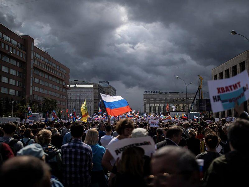 Protest, źródło: Twitter, Aleksiej Navalny