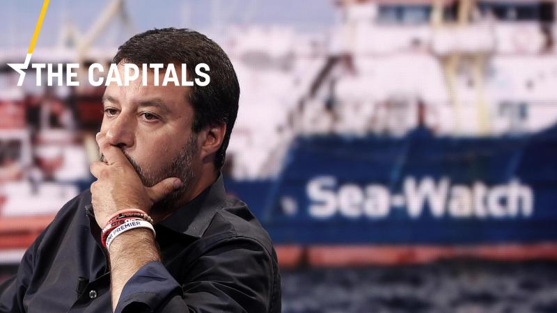 Matteo Salvini, gdy był ministrem spraw wewnętrznych, dał się poznać jako przeciwnik przyjmowania migrantów we Włoszech.