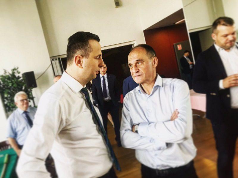 Liderzy PSL- Koalicji Polskiej Władysław Kosiniak-Kamysz i Paweł Kukiz, źródło twitter nowePSL