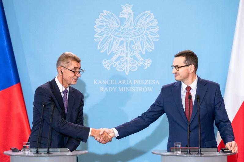 Premierzy Czech i Polski Andrej Babiš i Mateusz Morawiecki, źródło Adam Guz KPRM