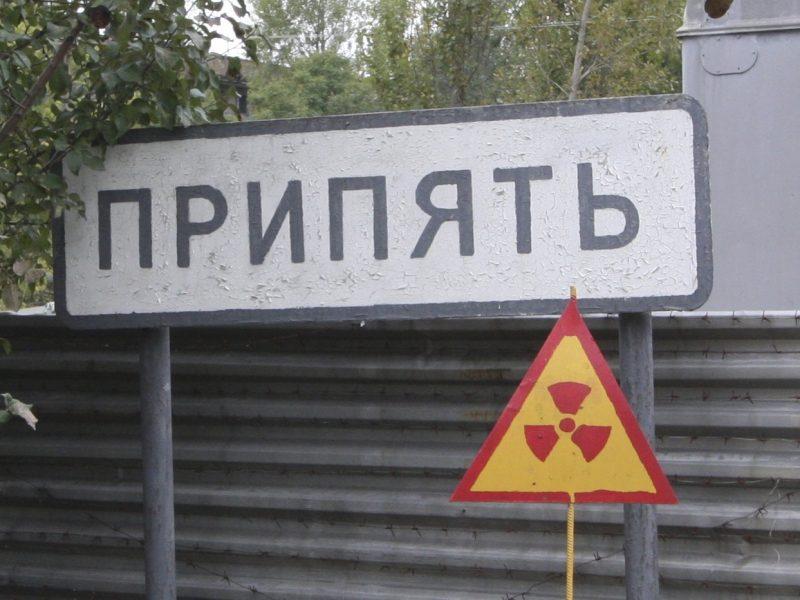 Tablica wjazdowa do miasta Prypeć niedaleko Czarnobyla, źródło: Flickr, fot. Chris Price