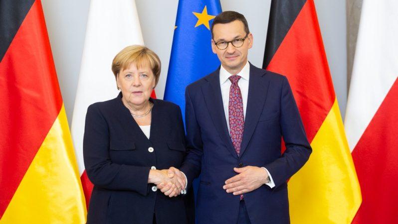 Angela Merkel i Mateusz Morawiecki, fot. Adam Guz, KPRM