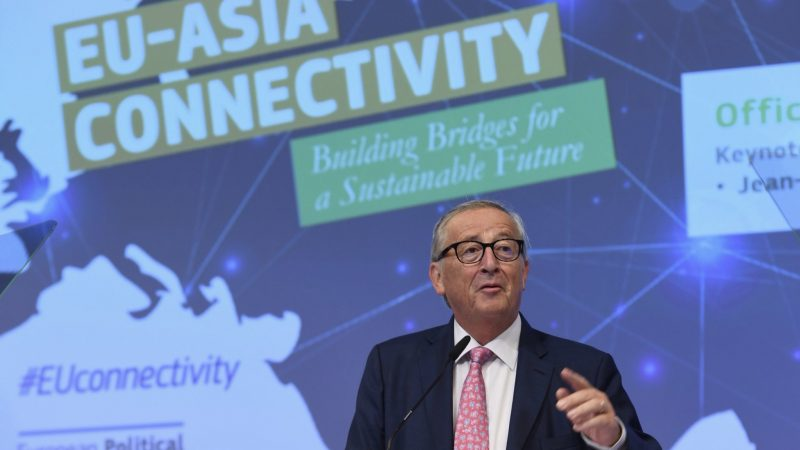 Jean-Claude Juncker na EU-Asia Connectivity Forum 2019, fot. twitter European Commission