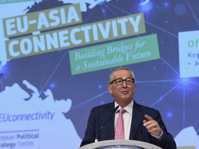 Jean-Claude Juncker na EU-Asia Connectivity Forum 2019, fot. twitter European Commission