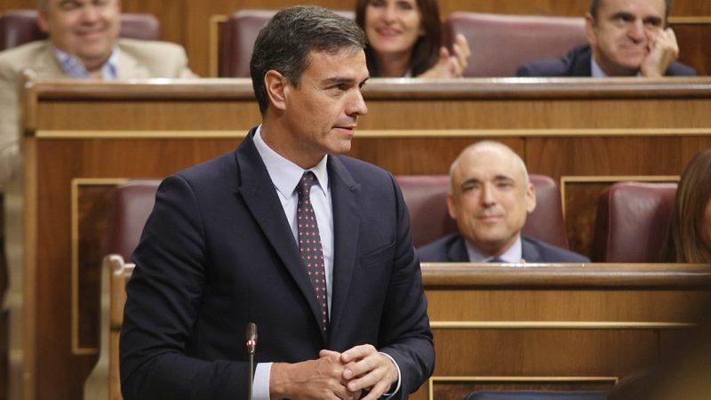 Premier Hiszpanii Pedro Sánchez w parlamencie, źródło twitter PSOE