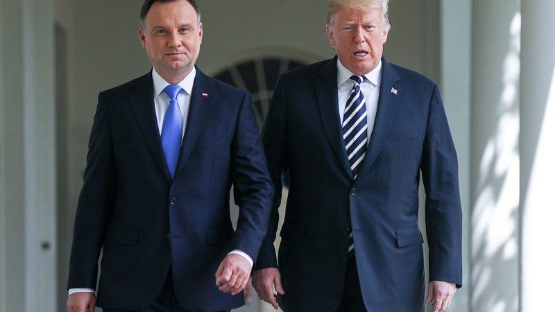 Prezydenci Polski i USA Andrzej Duda i Donald Trump, źródło Jakub Szymczuk KPRP