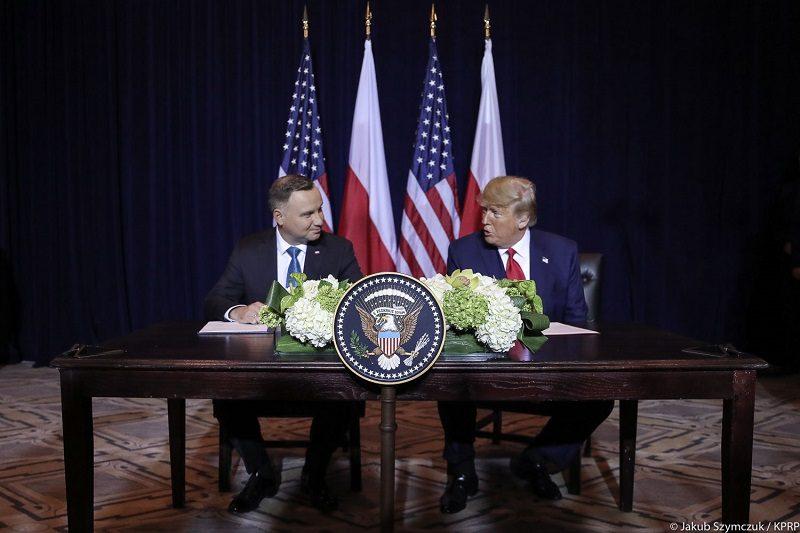 Prezydenci Polski i USA Andrzej Duda i Donald Trump - spotkanie w Nowym Jorku, źródło Jakub Szymczuk KPRP