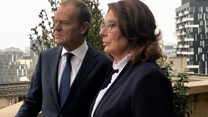 Małgorzata Kidawa-Błońska i Donald Tusk, Twitter