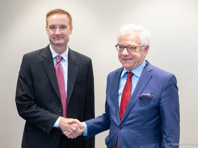 Michael Carpenter i Jacek Czaputowicz, fot. MSZ [Twitter]