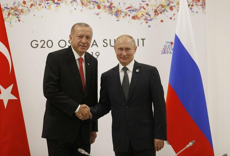 Prezydenci Turcji i Rosji Recep Tayyip Erdoğan i Władimir Putin, źródło twitter