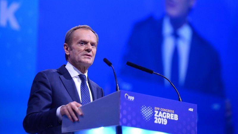 Donald Tusk na kongresie EPL w Zagrzebiu, źródło twitter epp