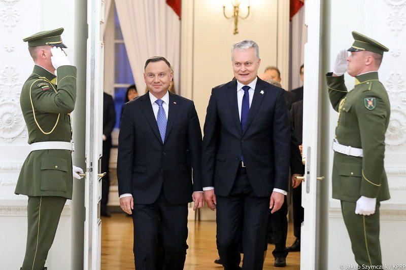 Prezydenci Polski i Litwy Andrzej Duda i Gitanas Nausėda w Wilnie, źródło Jakub Szymczuk KPRP