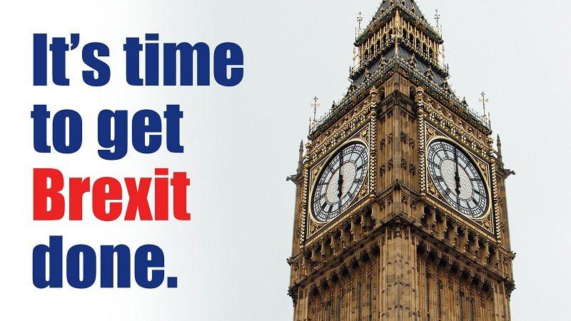 Brexit, hasło i wieża z Big Benem, źródło twitter BorisJohnson