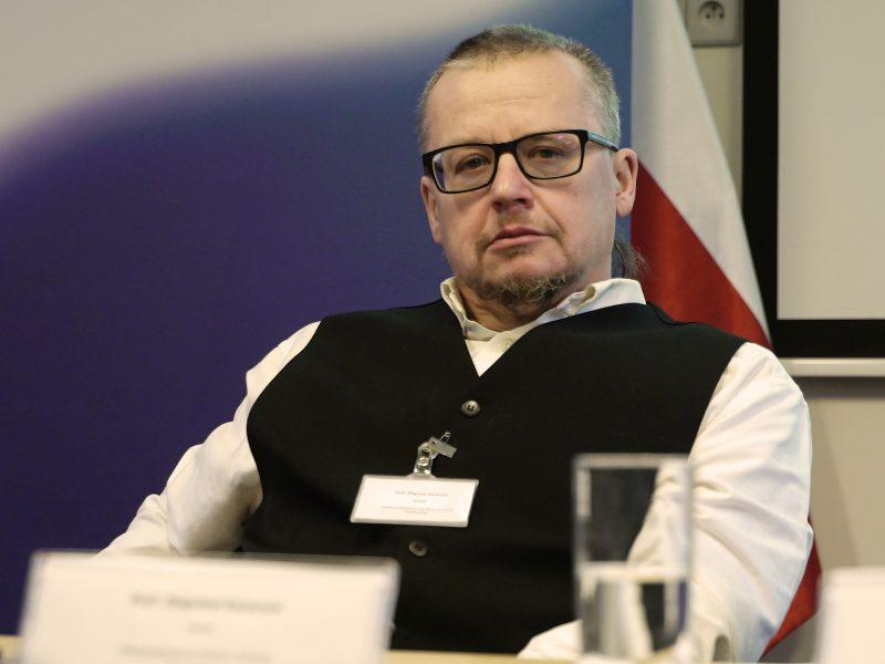 Prof. Zbigniew Karaczun w trakcie debaty EURACTIV.pl | Fot. New Media Project