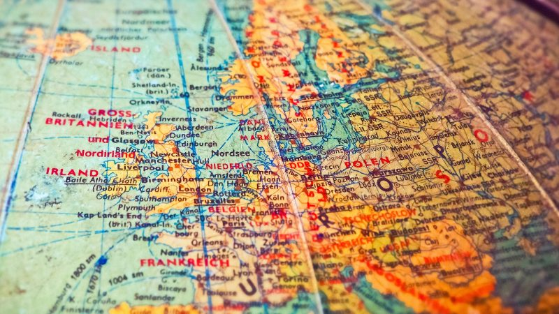 Mapa Europy, fot. Michael Gaida [Pixabay]