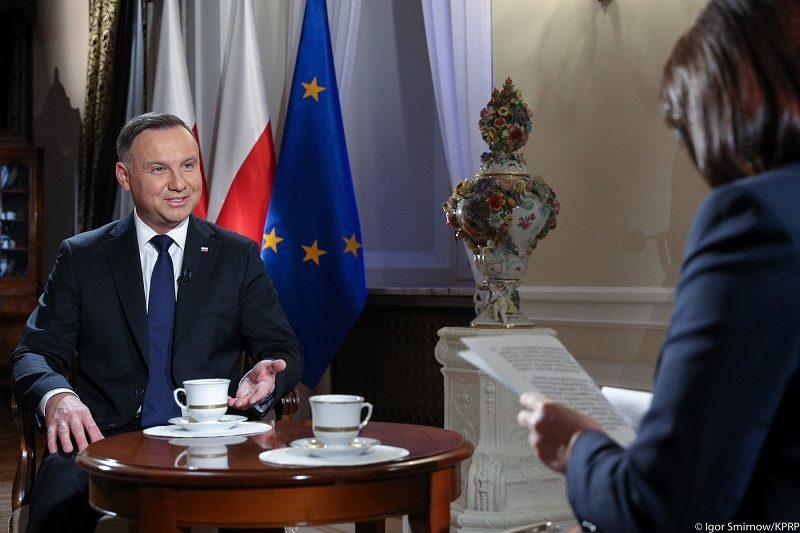 Prezydent Andrzej Duda, wywiad w TVP, źródło Igor Smirnow KPRP
