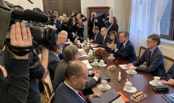 Spotkanie delegacji Komisji Weneckiej w Senacie, źródło twitter