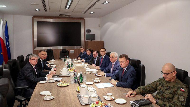 Spotkanie prezydenta Andrzeja Dudy w BBN ws. sytuacji na Bliskim Wschodzie, źródło Igor Smirnow KPRP
